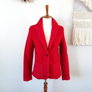 J. Crew Jackets & Coats - J. Crew | Boiled Wool Seamed Blazer - RED